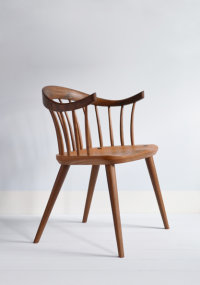 Darwin armchair in walnut designed by Dave Green