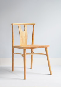 Evie side chair in ash designed by Wales & Wales