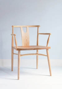 Evie armchair in ash designed by Wales & Wales