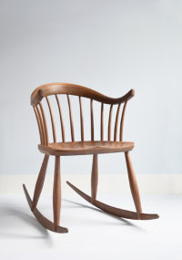 Leamington Rocker in walnut designed by Dave Green