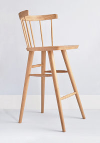 Tottenham Court Mod bar stool in oak designed by Chris Eckersley