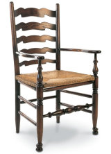 SF127 WEST MIDLANDS WAVY LINE LADDERBACK ARMCHAIR  A variation on the West Midlands Ladderback with highly decorative back slats.
