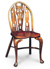SF1 GOTHIC SIDECHAIR  This is the Sidechair version of the Gothic Settee, still a fantastically decorative piece.