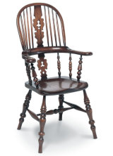 SF25 LANCASHIRE BROADARM  Another Lancashire design, this chair (of course) has very broad arms, and heavy turnings instead of sticks in the lower back register.
