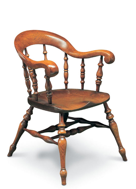 SF36 BEGERE BOW ARMCHAIR  <br>A more elaborate version of the Smoker's Bow, with heavily scrolled arms. This is Dave Green's favourite chair!