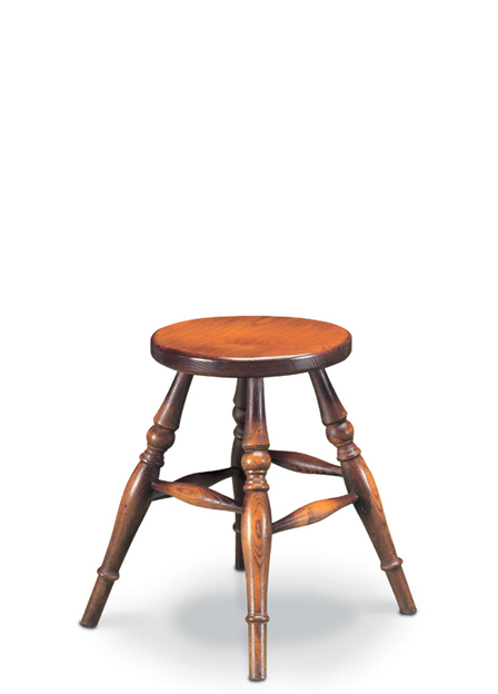 SF44 LOW STOOL <br> A low stool - very simple, but made with the same care and attention to detail as our more elaborate pieces.