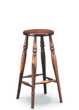 SF45 HIGH STOOL  A very useful Windsor-construction stool for kitchen or bar room use.