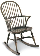 SF4R STICKBACK DOUBLE BOW ROCKING CHAIR  A:47cm  B:103cm   C:51cm   D:42cm  E:56cm  F:70cm
