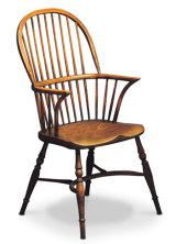 SF4  STICKBACK DOUBLE BOW  This chair was the first type of Windsor made by Dave Green when he was setting up the company back in 1989. They are still very popular today.