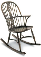 SF5R  GEORGIAN DOUBLE BOW ROCKING CHAIR A:47cm   B:103cm   C: 51cm  D:42cm   E: 56cm  F: 70cm