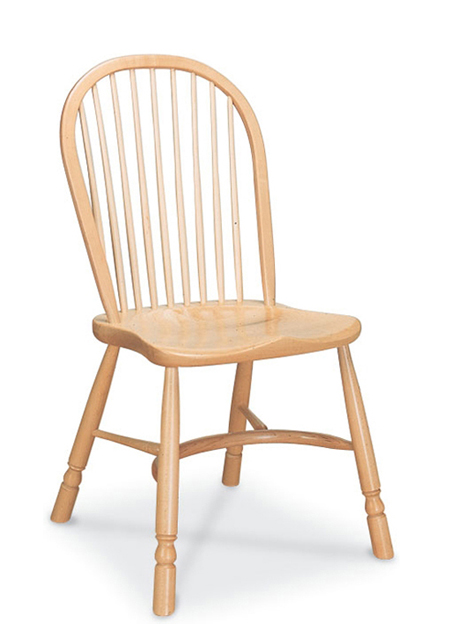 SF9H  RICHMOND SIDE CHAIR <br>Similar to the Stickback Sidechair, but a simpler design in the detailing. The pale finish gives a more contemporary look.