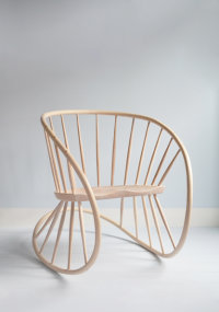 Windsor Rocker in white oiled ash designed by Katie Walker