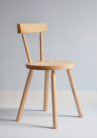 Bodge side chair in ash designed by Gitta Gschwendtner