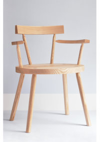 Bodge armchair in ash designed by Gitta Gschwendtner
