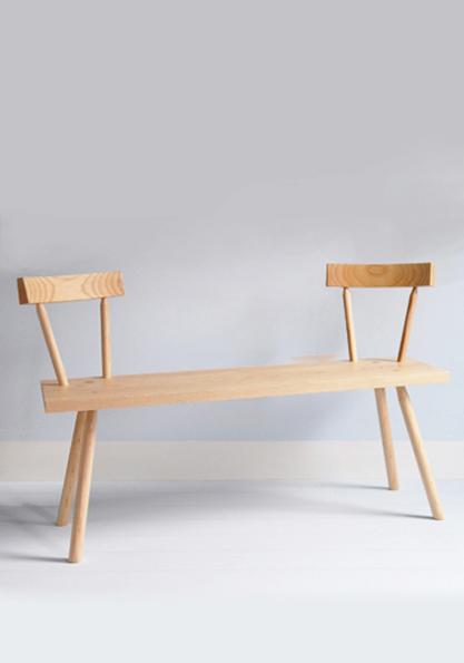 <b>Bodge</b> bench in ash <br>designed by Gitta Gschwendtner