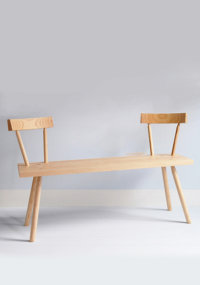 Bodge bench in ash designed by Gitta Gschwendtner