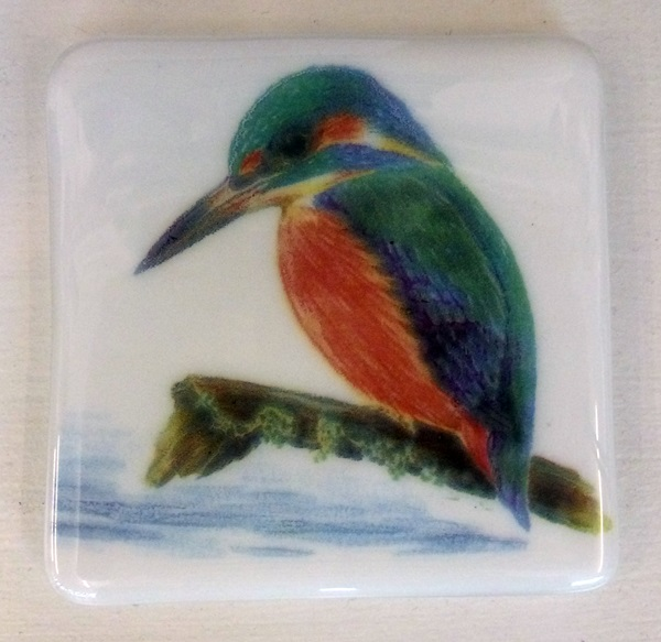 Kingfisher glass tile