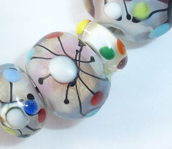Etched Picassa Beads