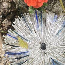 Blue Glittery circle
