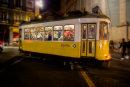 Night Tram Lisbon