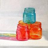 "'Coloured Jars' Oil on board 12"" x 10"""