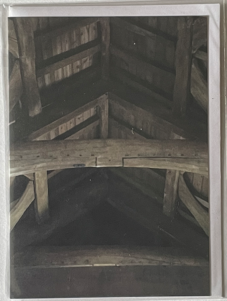 Roof beams in an old church