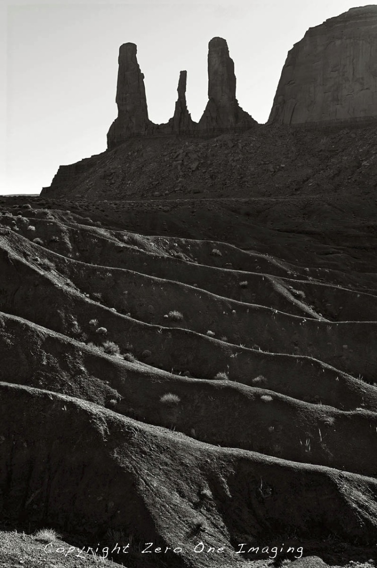 Monument Valley Rim Lit Ridges