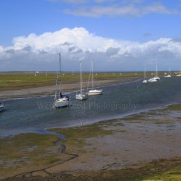 Boats on Keyhaven Marshes