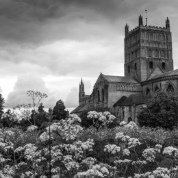 Tewkesbury Abbey in late spring
