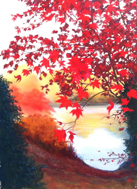 Autumn Leaves, pastel sold