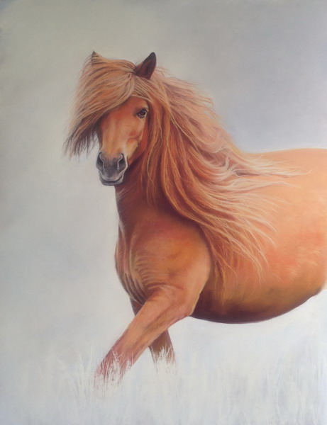 Free Spirit, Portrait in Pastel £500