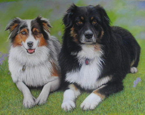 Pepper and Murphy , Pastel, Commission
