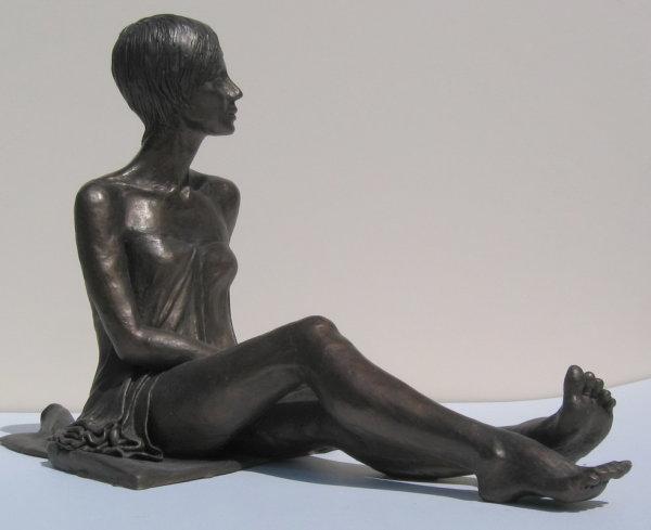 Sarah, side view, cast Bronze Resin sculpture
