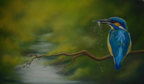 Kingfisher Pastel  SOLD