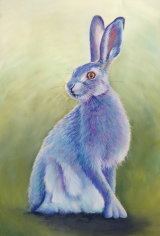 Mystic Blue Hare, Pastel Sold
