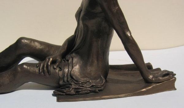 Sarah, detail of cast Bronze Resin sculpture