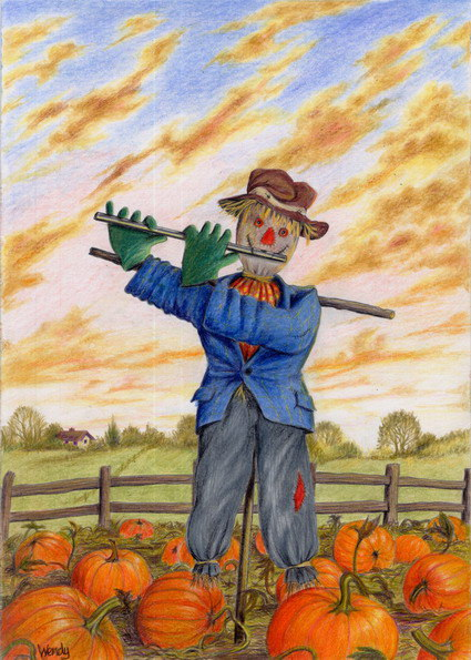 Scarecrow, Flutewise cover design, prints available £20