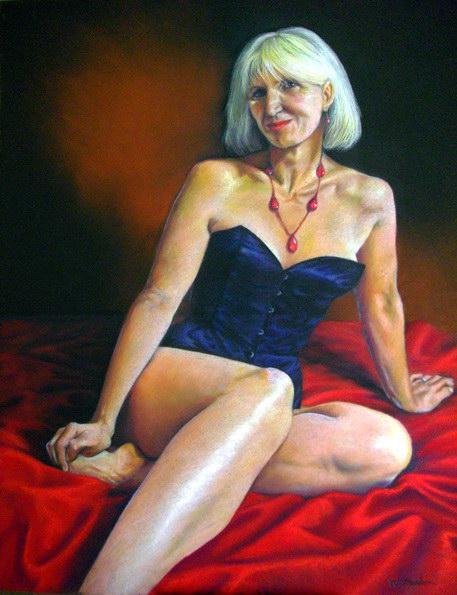 Sharon, pastel, commission