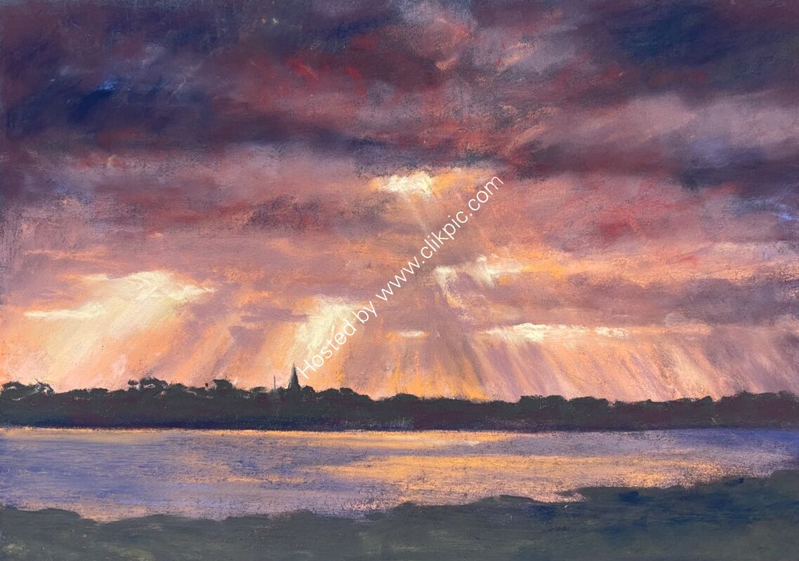 Wintry rays over Grand Havre from Rousse