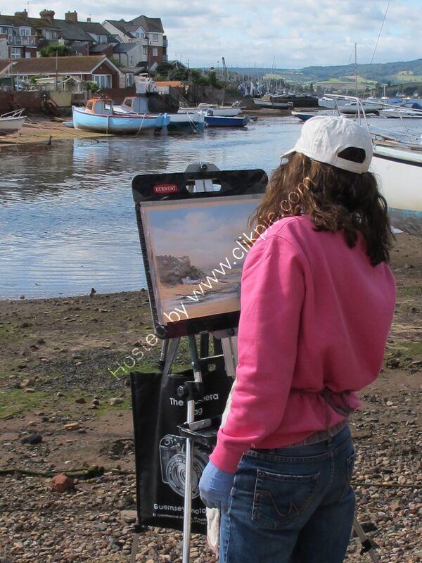 Painting en plein air by the Exmouth Estuary