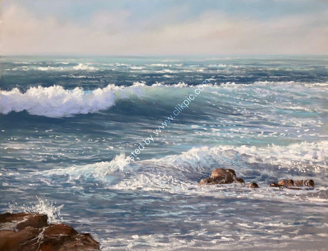 Incoming tide at Portinfer