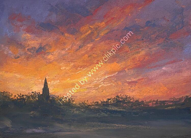 Sunrise over Vale Church