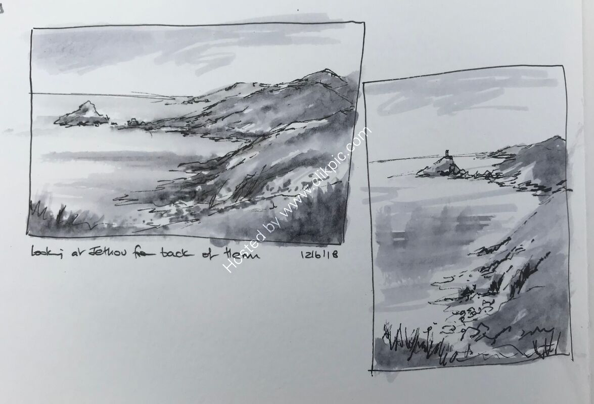 """Sketching """"thumbnails"""" in Guernsey"""