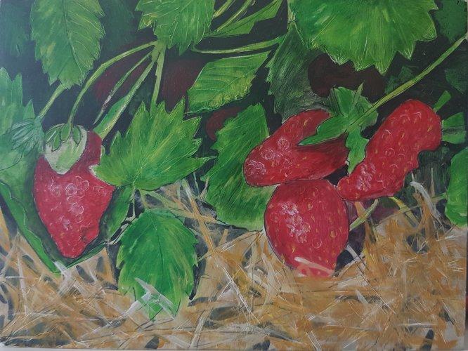 Strawberries, 2018 (SOLD)