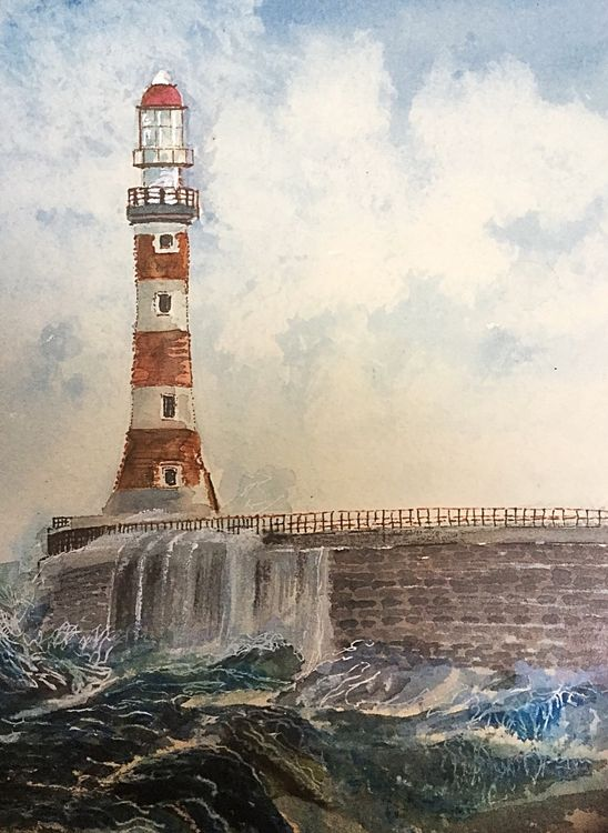 Roker Pier, Sunderland- watercolour  £40