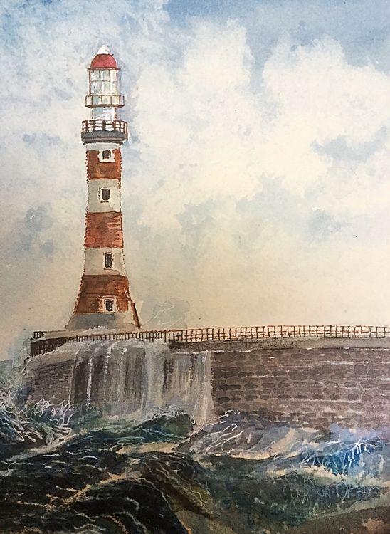 Roker Pier, Sunderland- watercolour £60