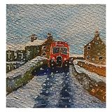 Wensleydale Bus (watercolour) Christmas Card 2018