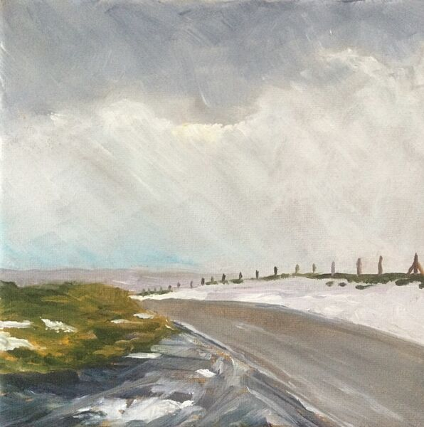"""Swaledale (oils) 8"""" x 8"""" 8"""" x 8""""   £85 Available from The Chapel Gallery, Hawes"""