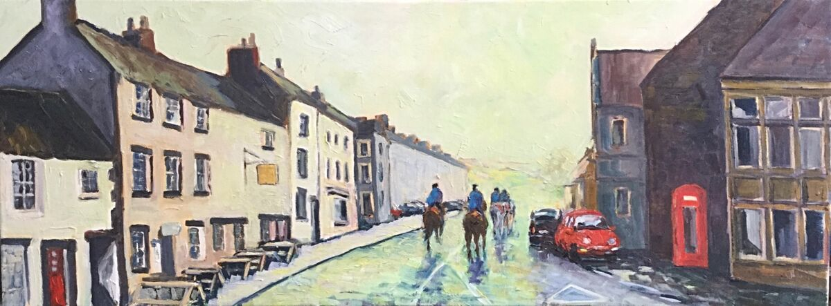 The First Lot - Early Morning, Middleham (oils) £150