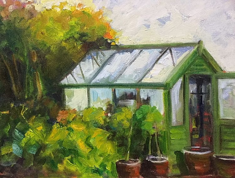 Jackie's Greenhouse (oils) SOLD